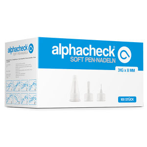 alphacheck soft Pen-Nadeln 31G x 8mm